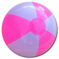 16'' Bright Pink & White Beach Balls