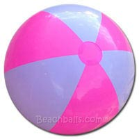 36'' Bright Pink & White Beach Balls
