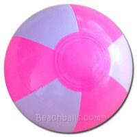 4'' Bright Pink & White Beach Balls