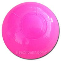 4'' Solid Bright Pink Beach Balls
