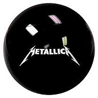 48'' Metallica Solid Black Beach Ball