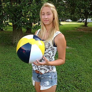 16'' Navy Blue, Yellow & White Beach Balls