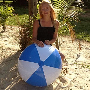 36'' Light Blue & White Beach Balls