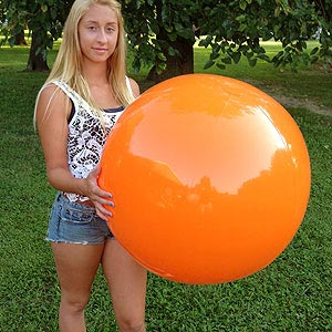 36'' Solid Orange Beach Balls