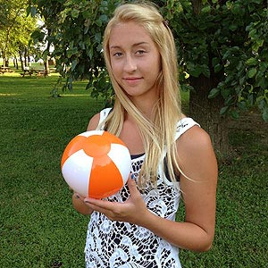 6'' Orange & White Beach Balls