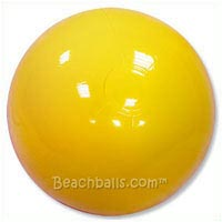 6'' Solid Light Yellow Beach Balls