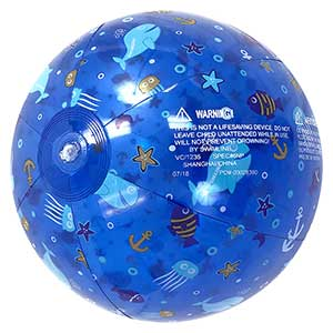 18'' Blue Ocean Beach Ball