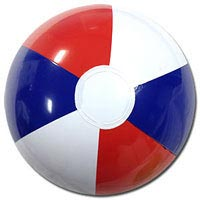 10'' Red White & Blue Beach Balls