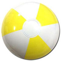 10'' Light Yellow & White Beach Balls