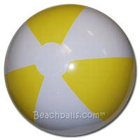 16'' Light Yellow & White Beach Balls