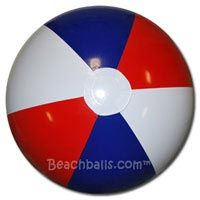 20'' Red White & Blue Beach Balls