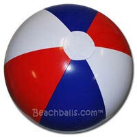 24'' Red White & Blue Beach Balls