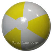 24'' Light Yellow & White Beach Balls
