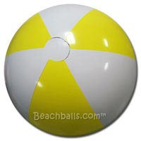 36'' Light Yellow & White Beach Balls