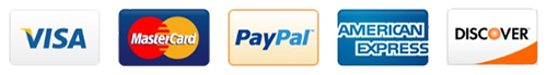 Visa - Master Card - Discover - American Express and PayPal Accepted